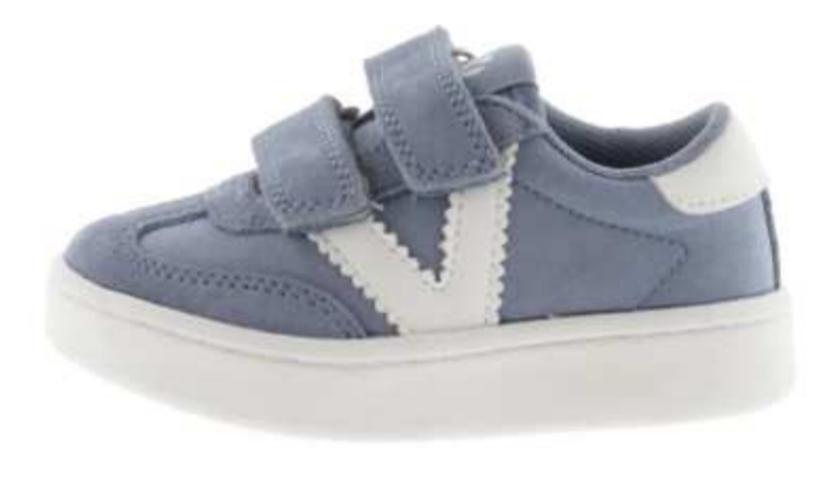 Victoria Boy's and Girl's Hook and Loop Closure Sneaker, Jeans