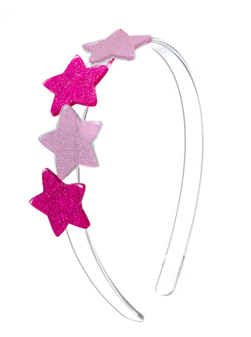 Lilies & Roses NY Girl's Dark Pink and Light Pink Star Headband