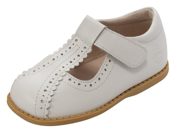 Livie & Luca Girl's Opry T-Strap Shoes, White