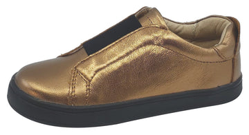 Old Soles Boy's and Girl's Peak Sneaker Shoe, Old Gold/Black