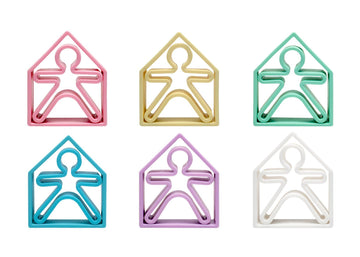 dëna Pastel Kids and Houses 6 Pack - Assorted Pastel Colors