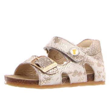 Naturino Falcotto Pitone Bea Open Toe Sandals - Platinum