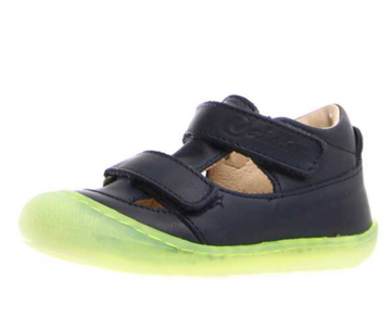 Naturino Puffy Nappa Spazz. Sneakers - Navy-Giallo Fluo