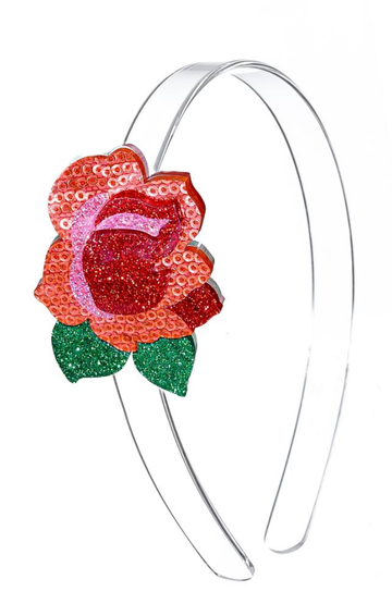 Lilies & Roses NY Glitter Red Rose Headband