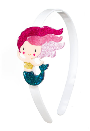 Lilies & Roses NY Girl's Emerald Green Underwater Mermaid Headband