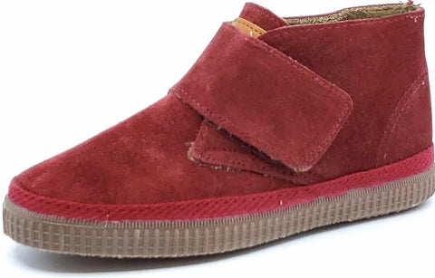 Natural World Eco Friendly High Top Hook and Loop Vulcanized Suede Burgundy