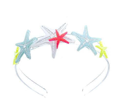 Lilies & Roses NY Girl's Bright Starfish Headbands