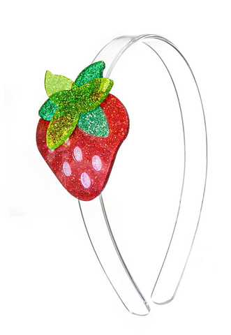 Lilies & Roses NY Girl's Glitter Strawberry Headband