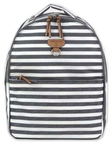 TWELVELittle Mini-Go Backpack, Grey Stripe