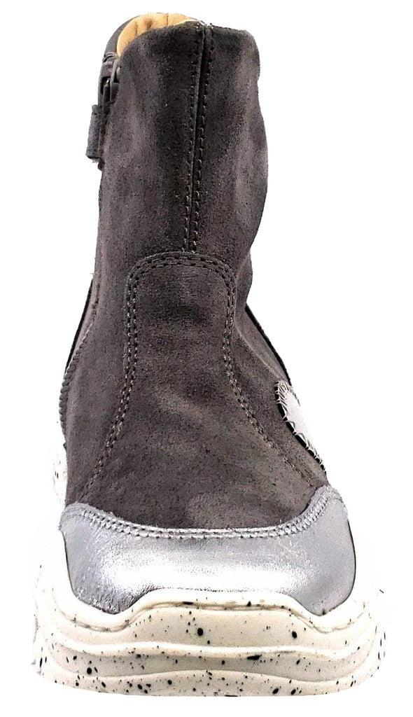 Naturino Falcotto Girl's and Boy's Bruce Shoes, Laminato/Velour Argento