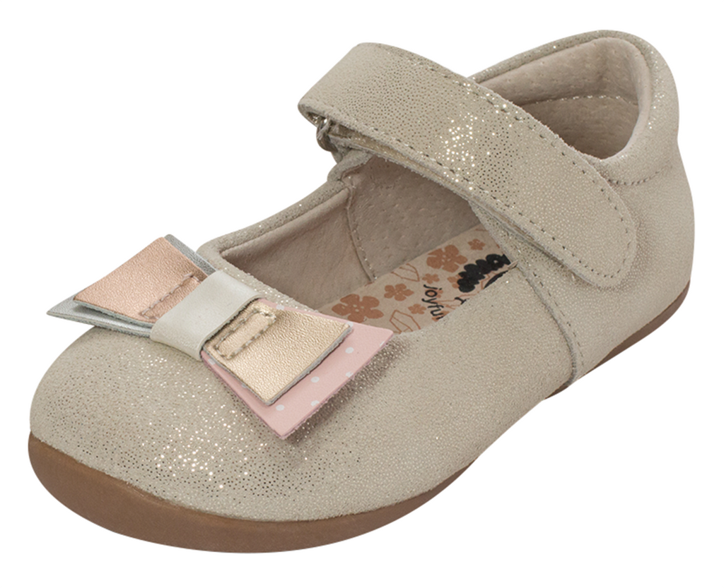 Livie & Luca Girl's Tako Mary Jane Shoes, Gold Cream