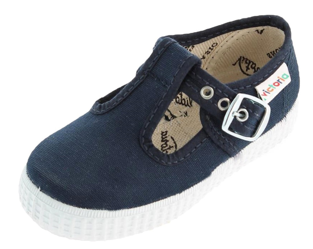 Victoria Girl's and Boy's T-strap Shoes, Marino