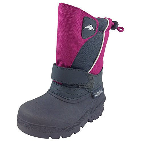 Tundra Girl's Fuchsia Quebec Snow Boot
