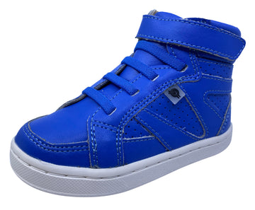 Old Soles Girl's & Boy's Starter Sneakers, Neon Blue