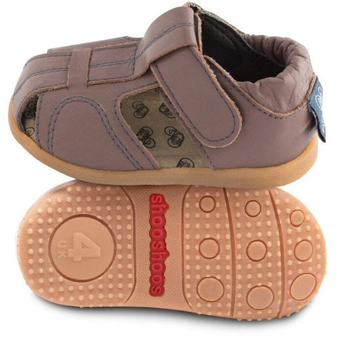 Shooshoos Boy's Brown Peanut Butter Fisherman Sandal - Just Shoes for Kids  - 1