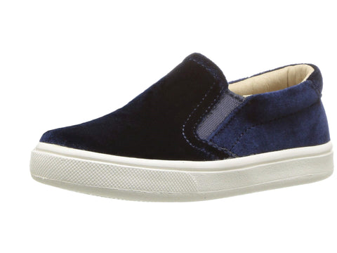 Old Soles Girl's Velvey Hoff Velvet Slip On, Midnight