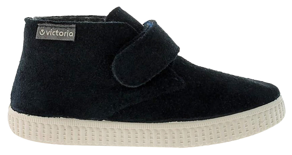 Victoria Safari Suede Hightop Navy Hook and Loop for Boy's and Girl's