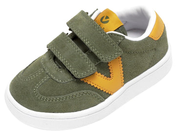 Victoria Millas Suede Sneaker Kaki Hook and Loop for Boy's and Girl's