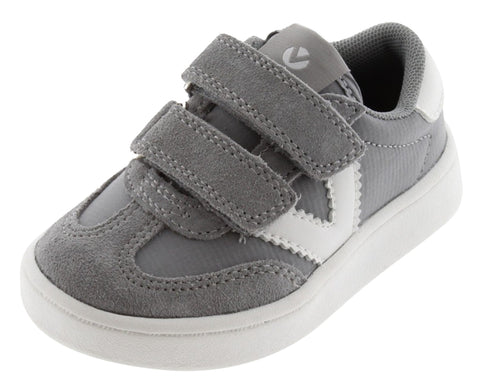 Victoria Boy's and Girl's Hook and Loop Closure Sneaker, Grey