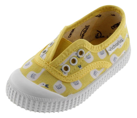 Victoria Boy's and  Girl's Laceless Sneakers, Amarillo