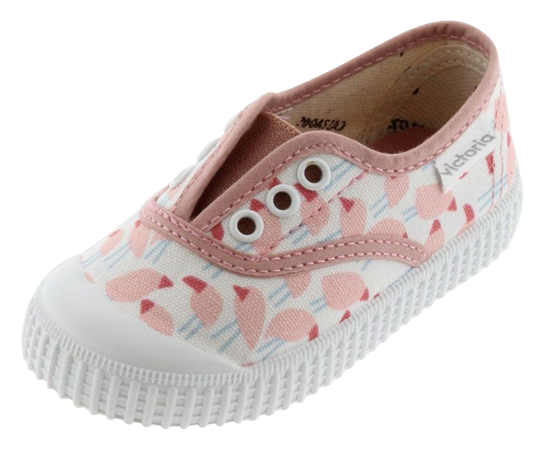 Victoria Girl's Laceless Sneakers, Nude
