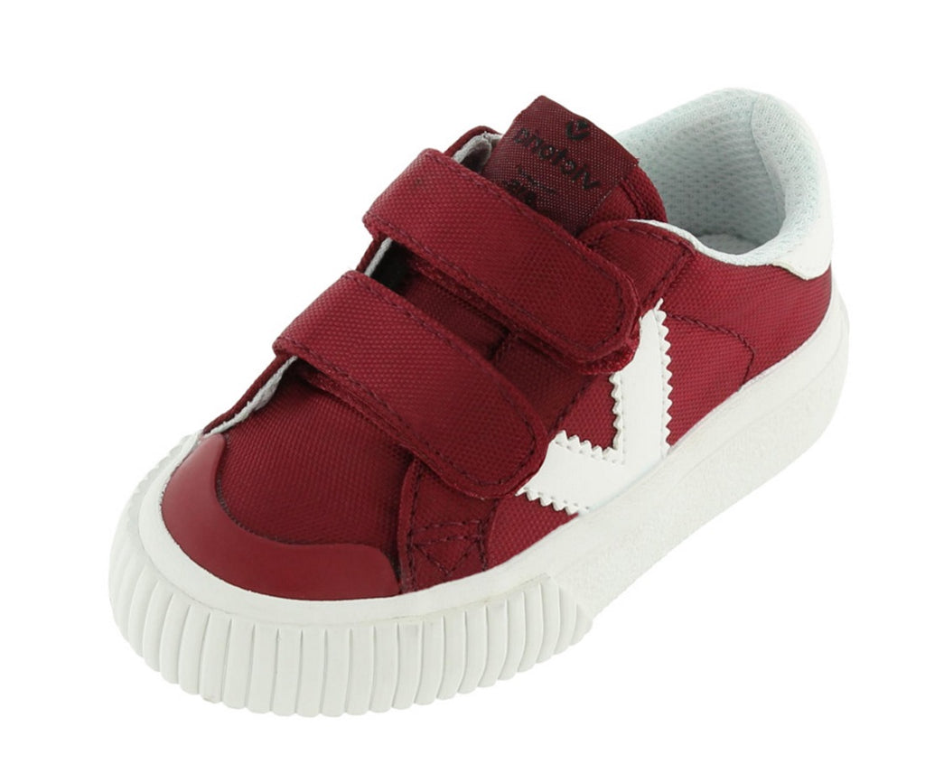 Victoria Boy's and Girl's Hook and Loop Closure Sneaker, Burdeos