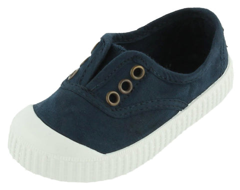 Victoria Girl's and Boy's Inglesa Slip-On Canvas Sneakers, Marino