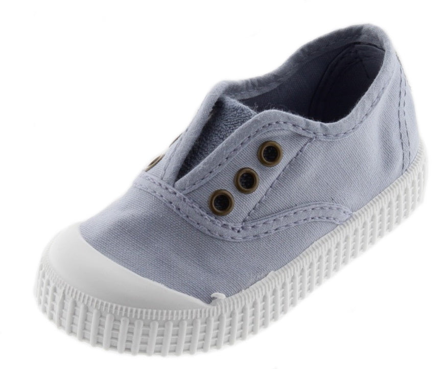 Victoria Girl's and Boy's Laceless Sneakers, Nube Cloud Blue
