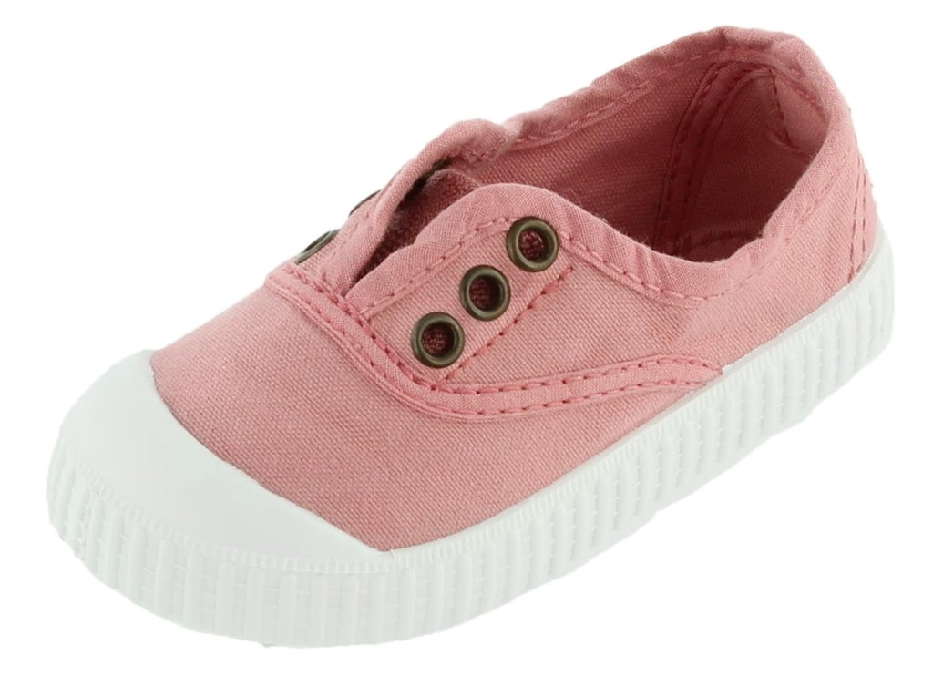 Victoria Girl's Inglesa Slip-On Canvas Sneakers, Nude