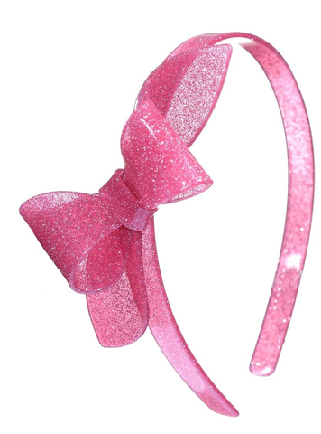 Lilies & Roses NY Rosane Glitter Vintage Pink Headband