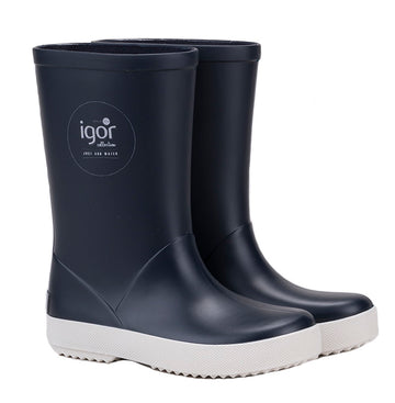 Igor Boy's & Girl's Splash Nautico Rain Boot, Marino