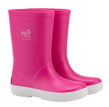 Igor Girl's Splash Nautico Rain Boot, Fucsia