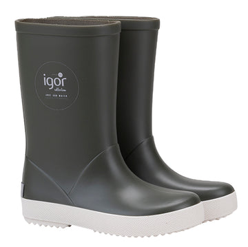 Igor Girl's and Boy's Splash Nautico Rain Boot, Khaki
