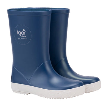 Igor Boy's & Girl's Splash Nautico Rain Boot, Jeans