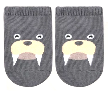 Eva & Elvin Grey Walrus Socks