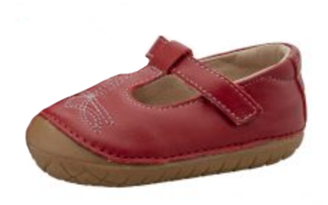 Old Soles Girl's Pave West T-Strap Shoe - Red