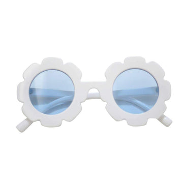 Blueberry Bay Flower Sunglasses, White