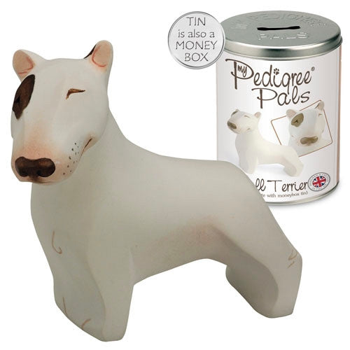 Pusculita cu figurina My Pedigree Pals Bull Terrier 10.5cm - PetGuru Pet Shop by Vetomed