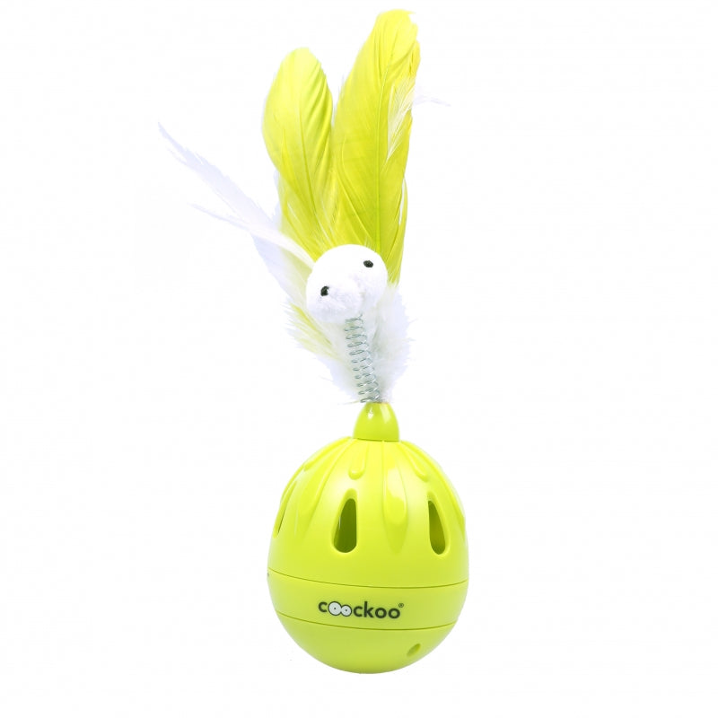 Coockoo Tumbler Jucarie interactiva pisici - lime 19,5x7cm