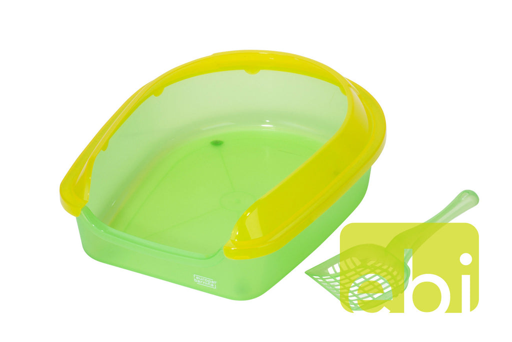 Litiera Eco SET S 38x48x14cmH Verde - PetGuru Pet Shop by Vetomed