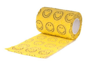 Bandaj elastic galben cu model smiley 7,5cm x 4,5m - PetGuru Pet Shop by Vetomed