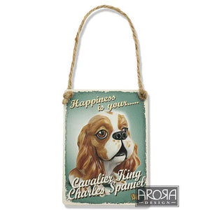 Decoratiune metal Cavalier King Charles - PetGuru Pet Shop by Vetomed