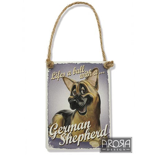 Decoratiune metal Ciobanesc German - PetGuru Pet Shop by Vetomed