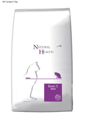 Natural Health Cat Adult Basic 5 15kg - PetGuru Pet Shop by Vetomed