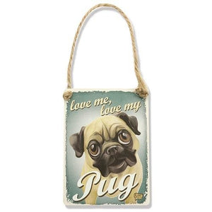 Decoratiune metal Pug - PetGuru Pet Shop by Vetomed  - 1