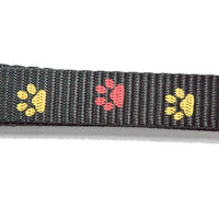 Lesa neagra cu imprimeu cu labute 2,5x120 cm - PetGuru Pet Shop by Vetomed  - 2