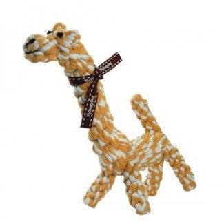 Jucarie din sfoara Girafa George 25 cm - PetGuru Pet Shop by Vetomed