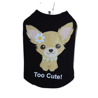 Tricou Too Cute negru S - PetGuru Pet Shop by Vetomed  - 1