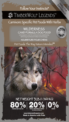 .Hrana Timberwolf LEGENDS Wilderness, Fara cereale