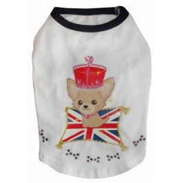 Tricou British Queen cu pietricele XL - PetGuru Pet Shop by Vetomed  - 1